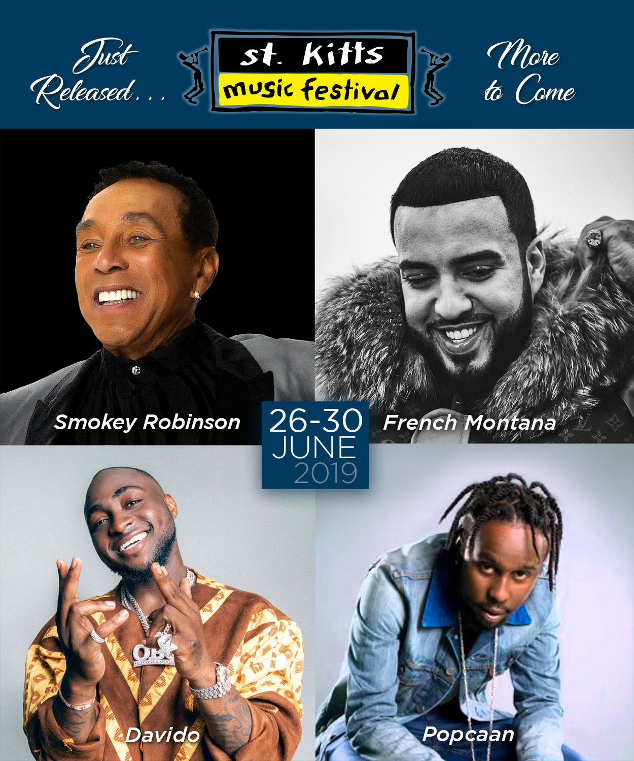 St. Kitts Music Festival artistes for 2019
