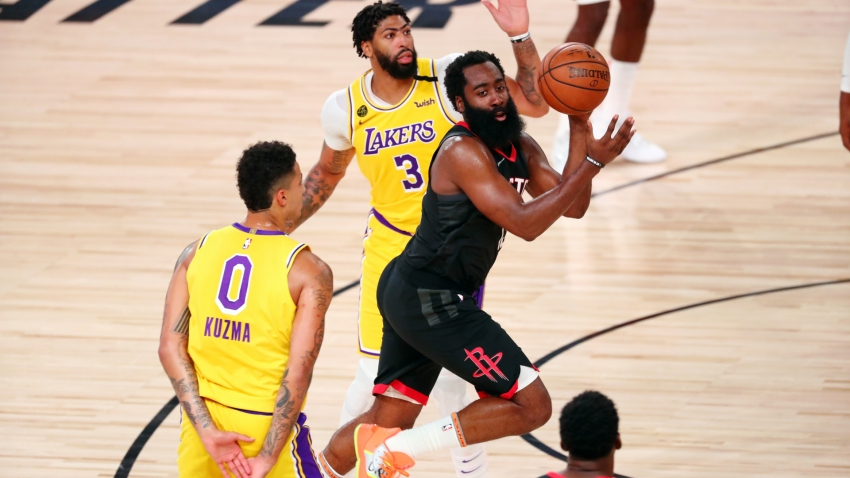 Harden leads Rockets past LeBron-less Lakers, Giannis ...